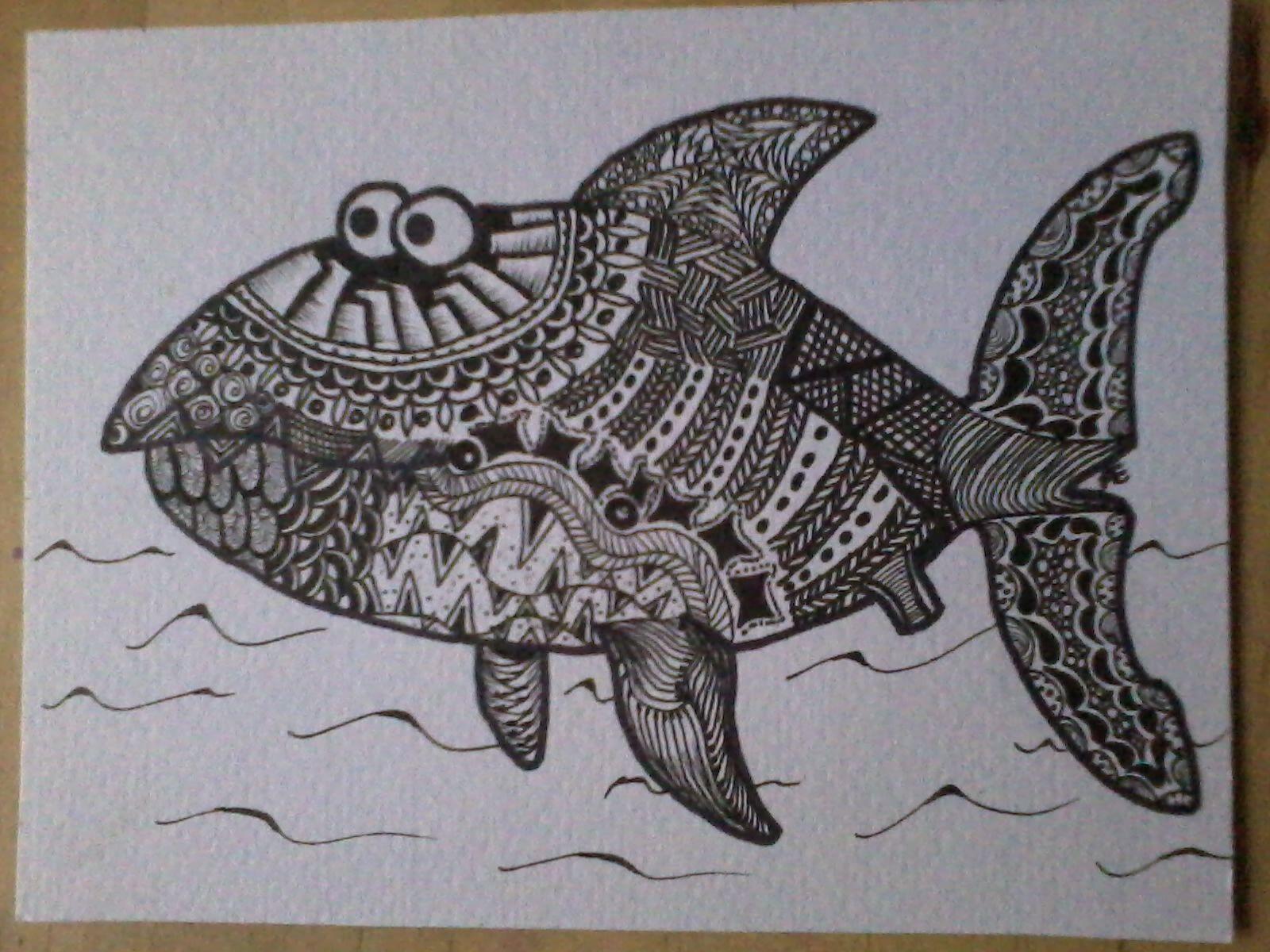 zentangle haai