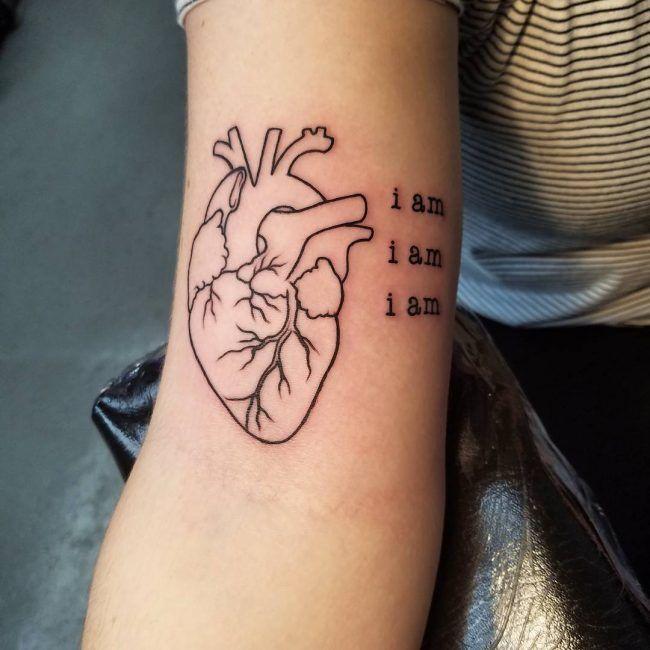 anatómico-corazón-tattoos_-3 | tattoos. | Pinterest | Tattoo, Tattos ...