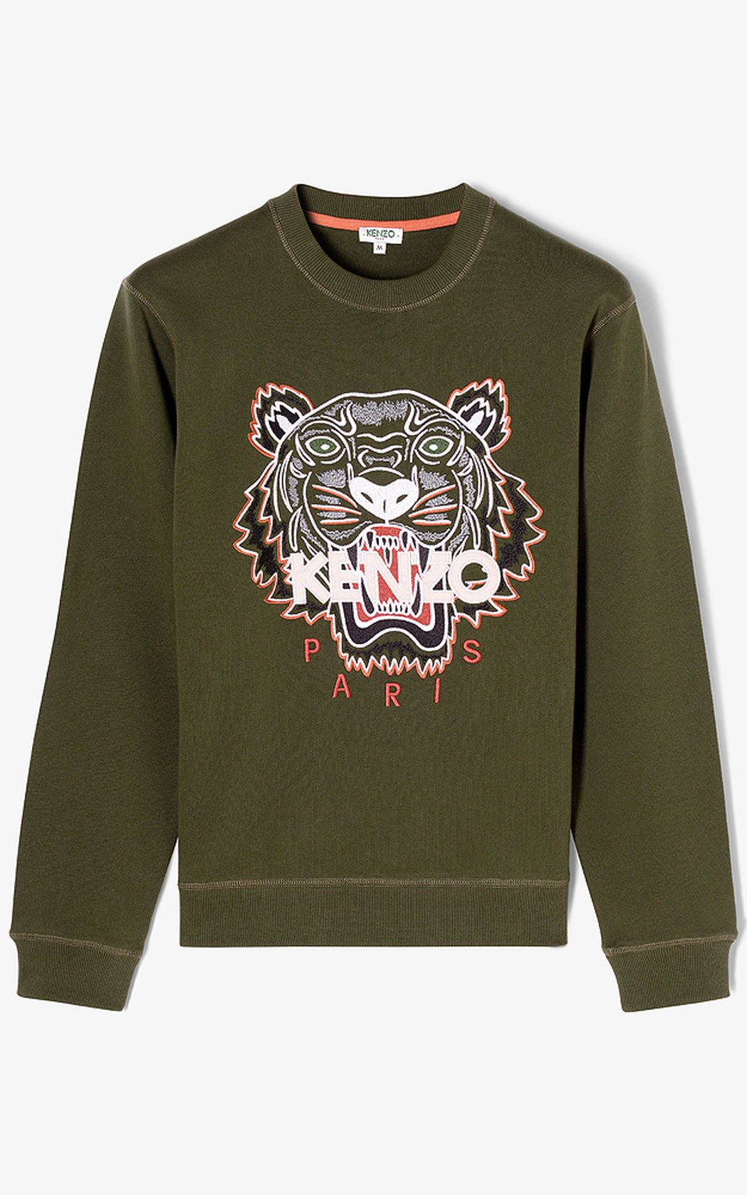 1c6b466a DARK KHAKI Tiger Sweatshirt for men KENZO | Most Wanted | Pinterest ...