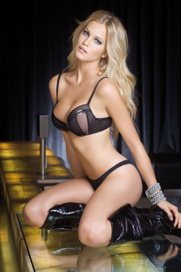 963cd06d4 Super hot blonde model in black bra and panties  sexy  lingerie Belle  Lingerie