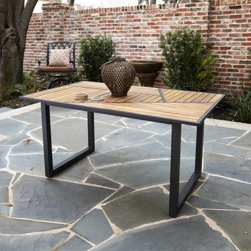 Delma Solid Wood Dining Table Dining Table Patio Dining Table