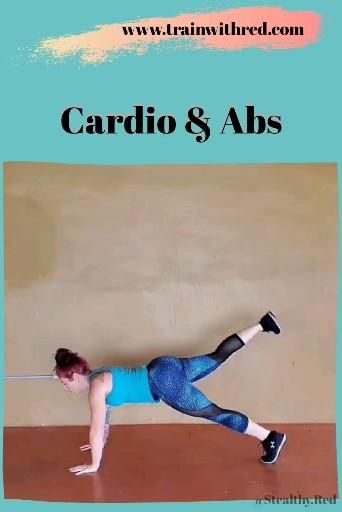 Fast Fat Burning HIIT Cardio & Abs Workout From Home No Equipment
