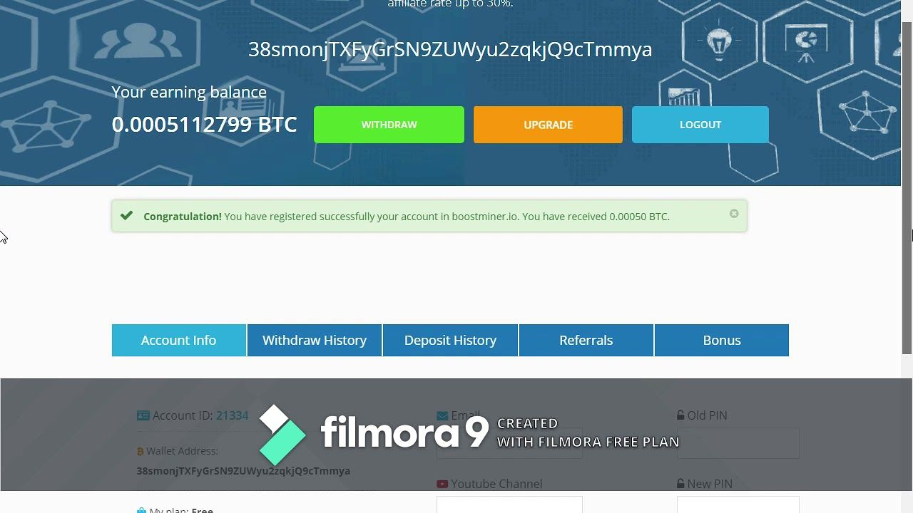 NEw High Earning Free Bitcoin 2019 Sites ||Boostminer II Signup bounus 0.0005 -  2019