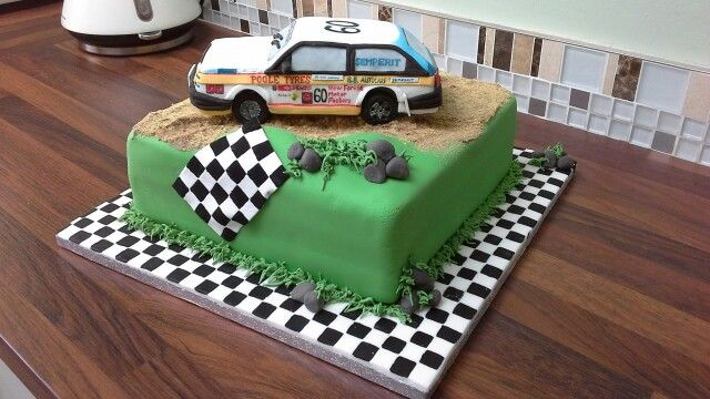 Rally Car Cake For Bobs 60th 29 06 2014 Cakes In 2019