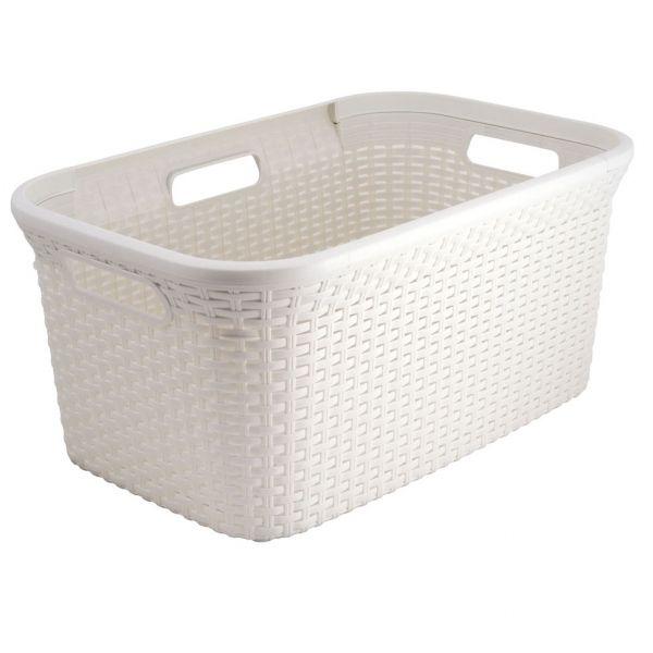 Hamper Basket No Lid White Washing Basket Laundry Basket