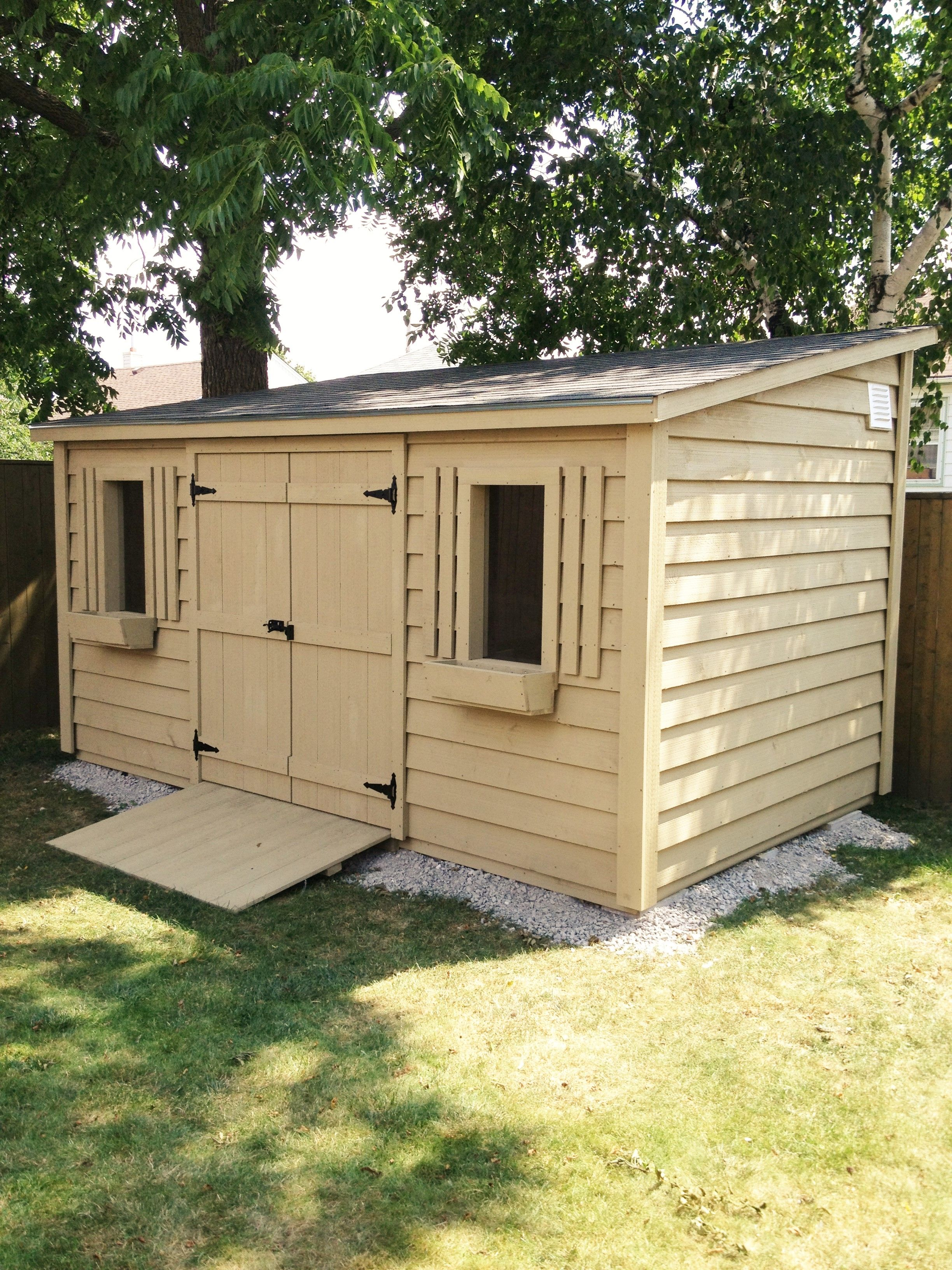 Garden Sheds 8 X 16 8x16 lean up shed with 5ft.double door and two windows. the stain
