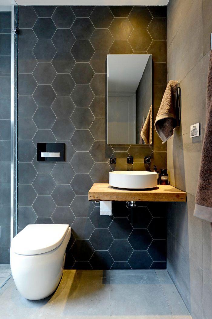 Pin von Kim Van Dyke auf Bathroom ideas Pinterest Gäste wc - badezimmer grau design