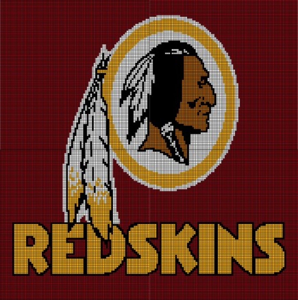 Washington Redskins Crochet Pattern Afghan Graph, $5.00