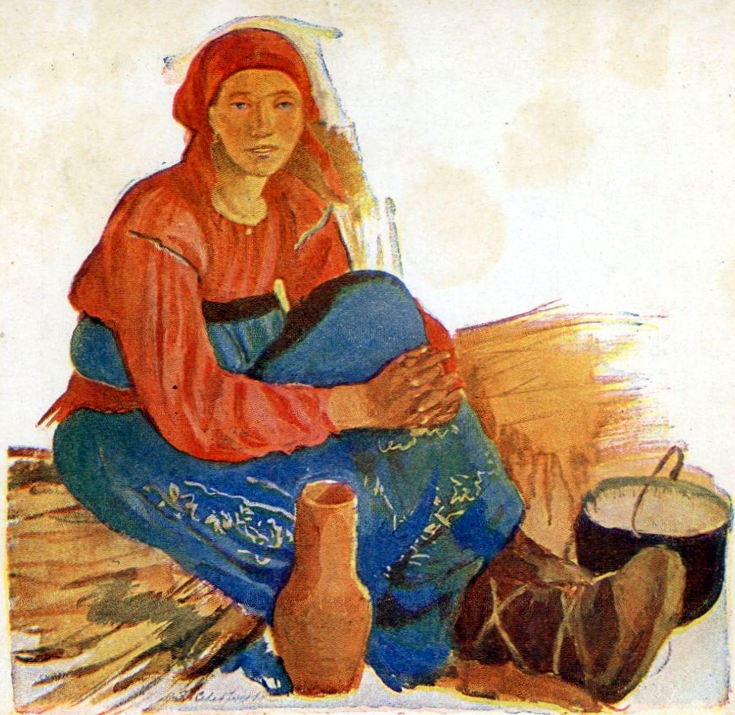 Джейн дарлинг в виде крестьянки