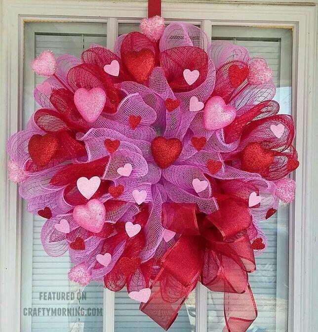 Dollar Tree Craft Craft Pinterest Wreaths Valentines And