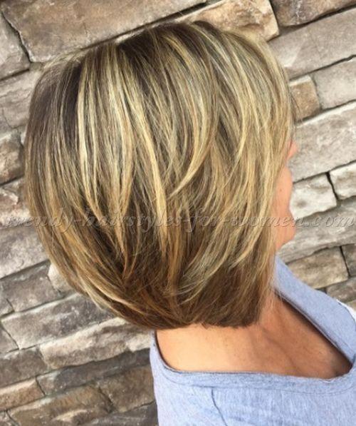 Shoulder Length Hairstyles Over 50 Layered Bob Haircut Bobs Haircuts Medium Hair Styles For Women Bob Hairstyles