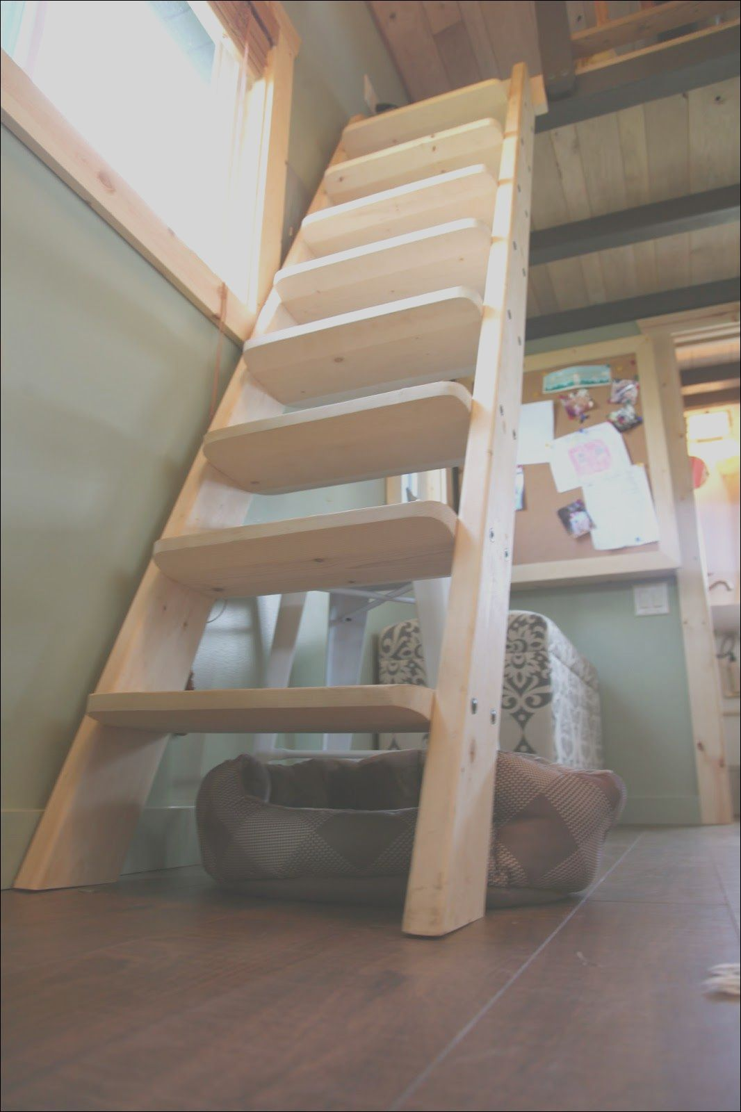 11 Clever Tiny House Loft Stairs Ideas Gallery In 2020 Tiny House Loft House Ladder Tiny House Swoon