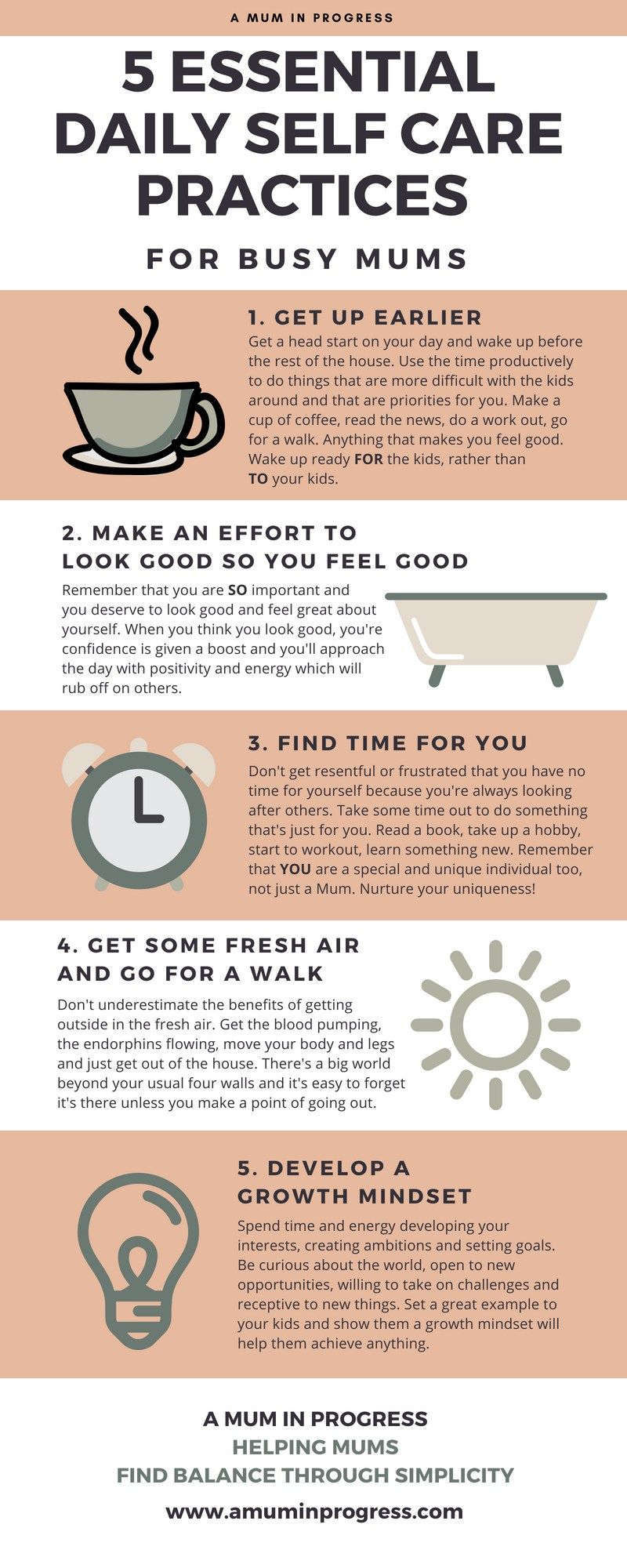 5 essential daily self care practices for busy mums self