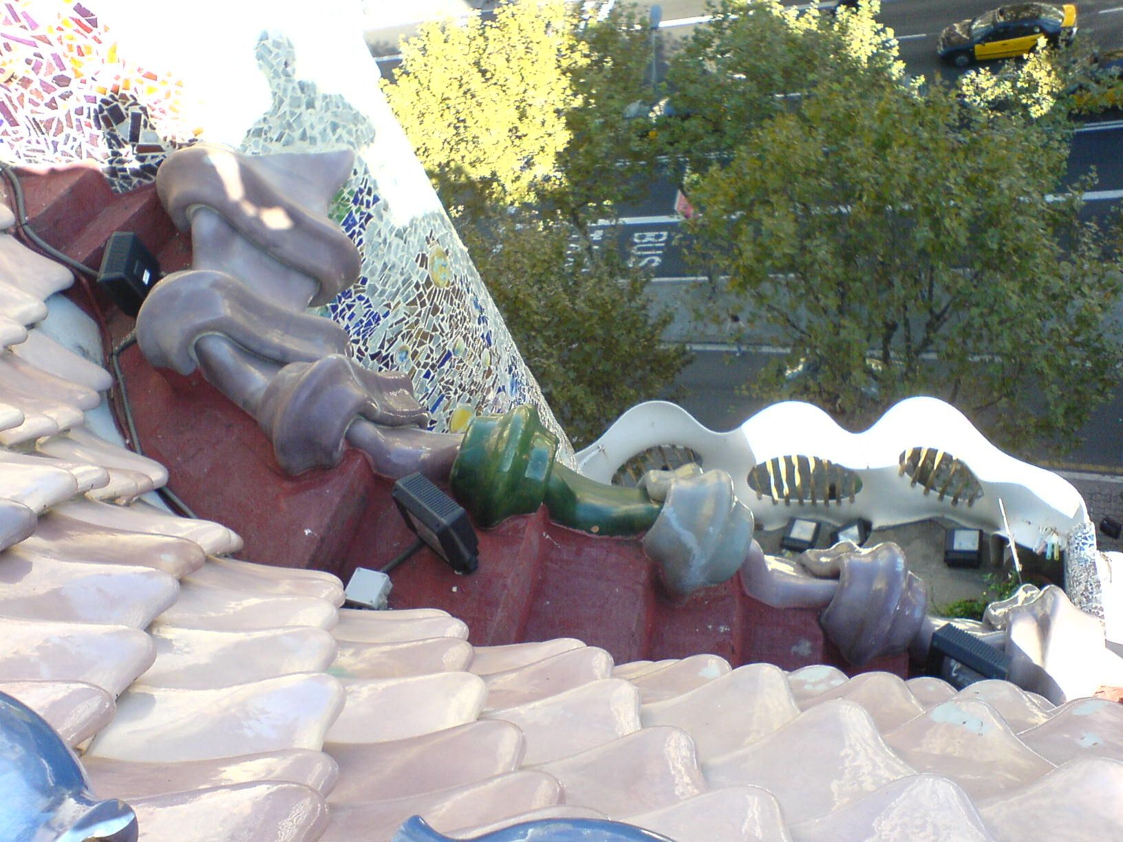 Casa Batllo roofing and tilework