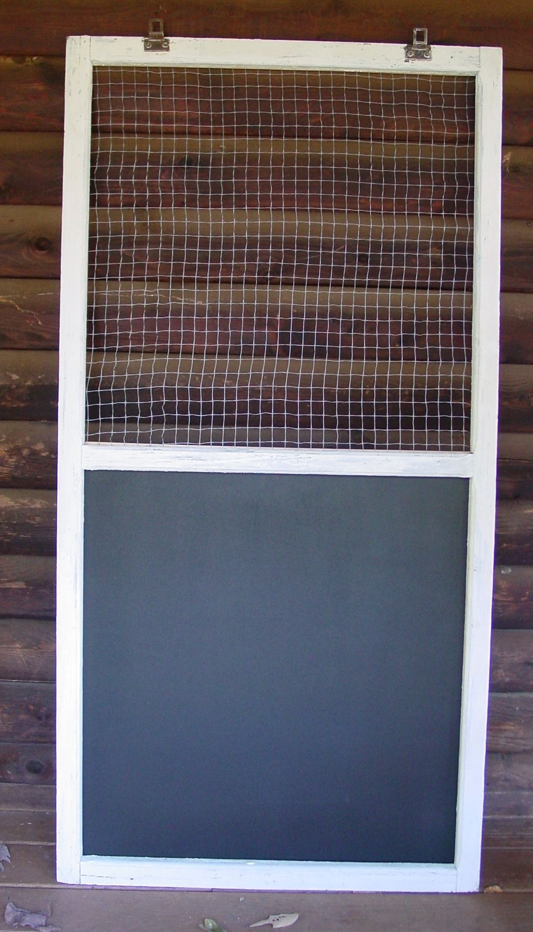 Old Window Frame Projects Used An Old Screen Window Frame Added Chicken Wire To The Top And