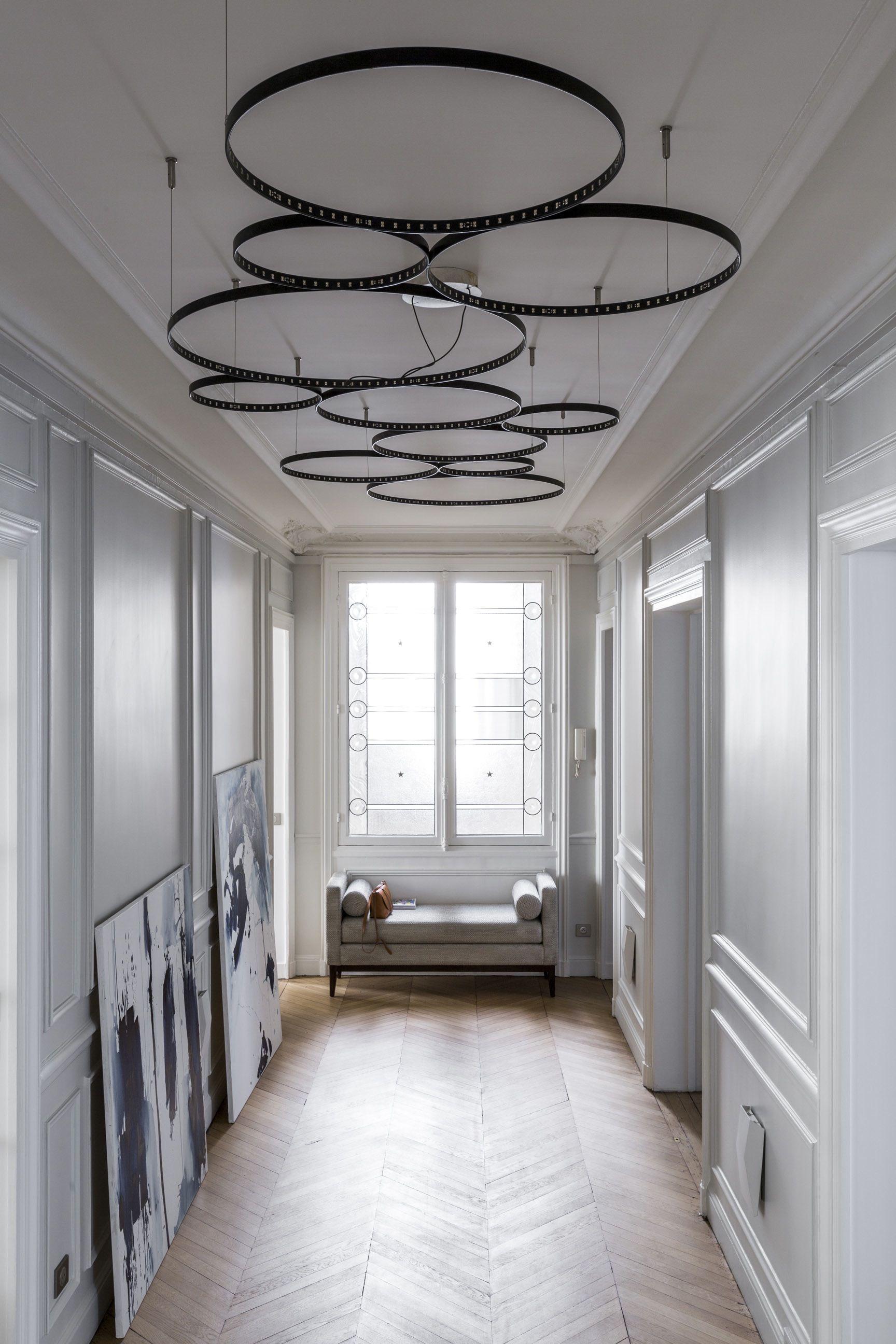 Un appartement haussmannien et contemporain à Paris. | Lampes ...