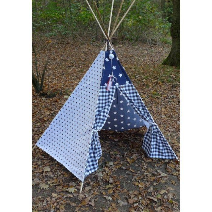 Tipi wigwam ster en ruit donkerblauw · Tee PeeTipi Tent  sc 1 st  Pinterest & Tipi wigwam ster en ruit donkerblauw   Stoere baby-jongetjeskamer ...