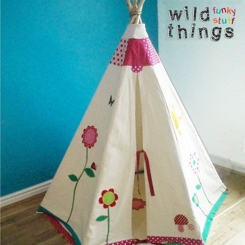 childrens teepee tipi customised play tent and play matwild
