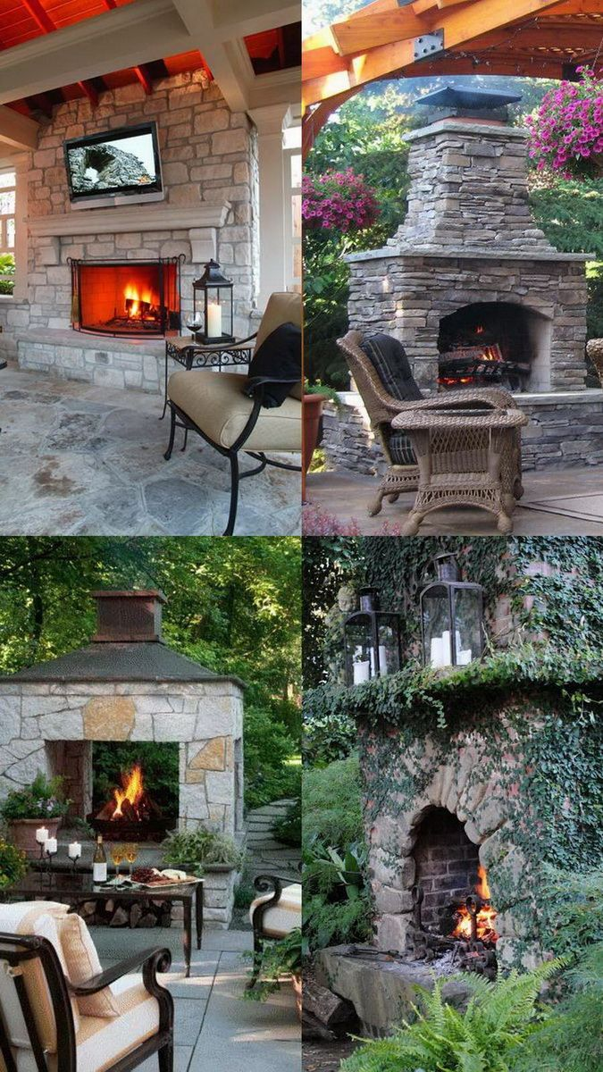 100 Amazing Outdoor Fireplace Designs @styleestate ... on Amazing Outdoor Fireplaces id=25211