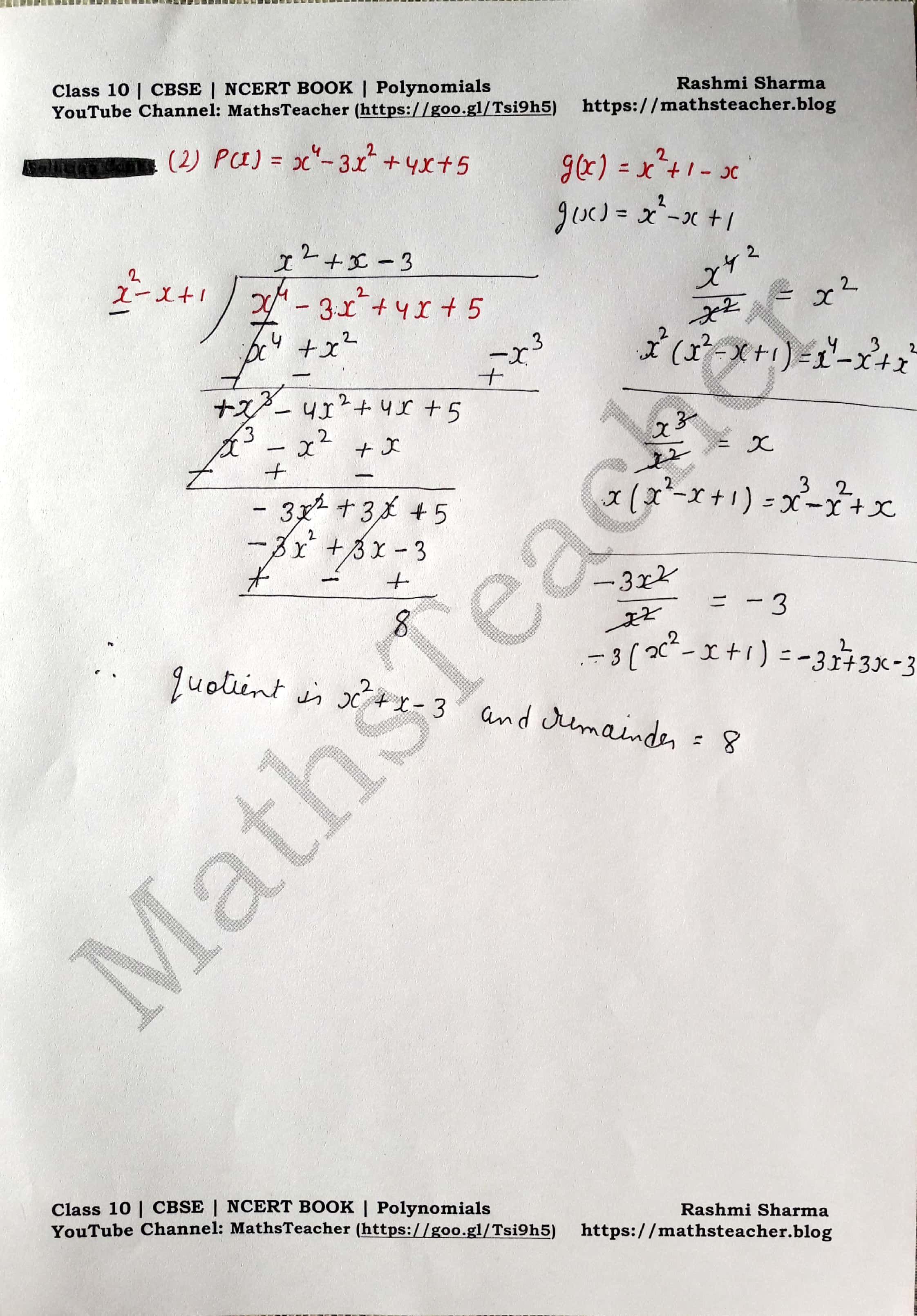 Class 10 Maths Chapter 2 Polynomials Ex 2 3 Question 1 Ii Polynomials Quadratics Arithmetic Progression [ 3220 x 2244 Pixel ]
