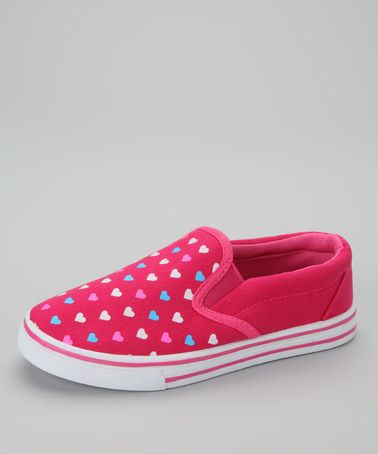 Another great find on #zulily! Peach Hearts Slip-On Sneaker by SYKE #zulilyfinds