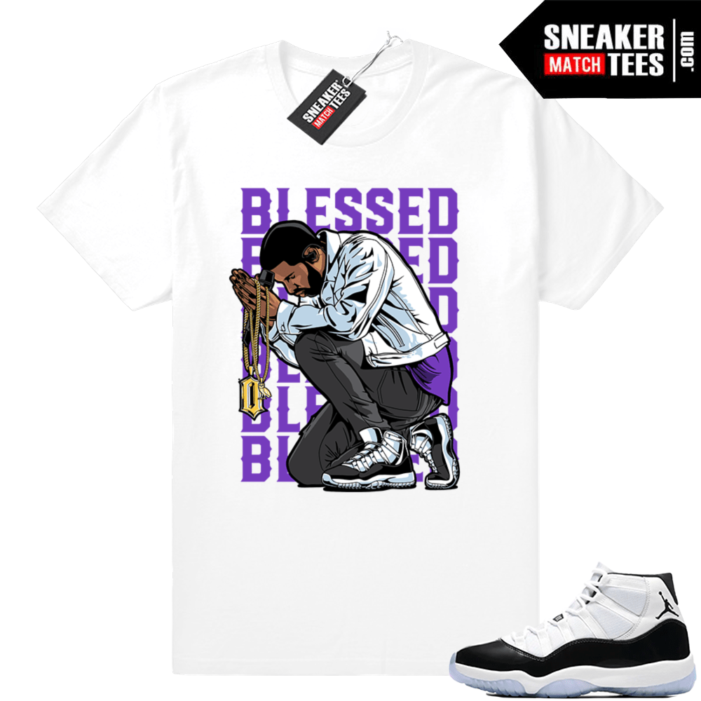 5387d9104dfa3 Concord 11 Jordan white shirt in 2019