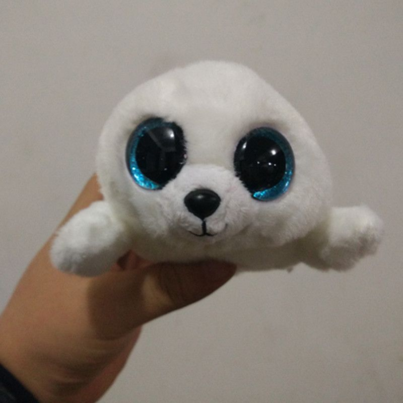 3d034cd3285 TY Beanie Boo Plush - Icy the Seal 15cm Original Ty Beanie Boos Big Eyes  Plush Toy Doll Purple Panda Baby Kids Gift