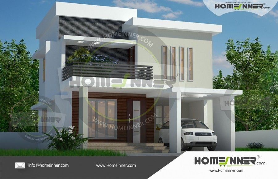 Two Story 1574 sq ft Contemporary House Plan