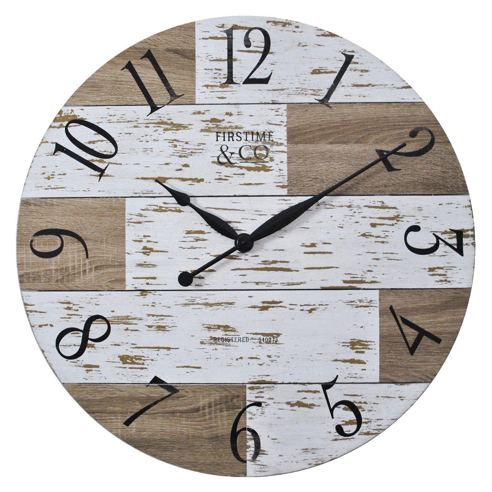 Firstime 27 In Harper Pallets Wall Clock Pallet Walls Wall