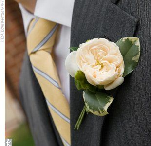 ivory garden rose boutonniere like thisbut with lavender added