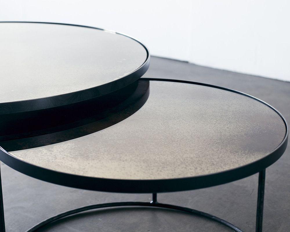 Notre monde clear heavy aged mirror round nesting coffee table set notre monde clear heavy aged mirror round nesting coffee table set geotapseo Gallery