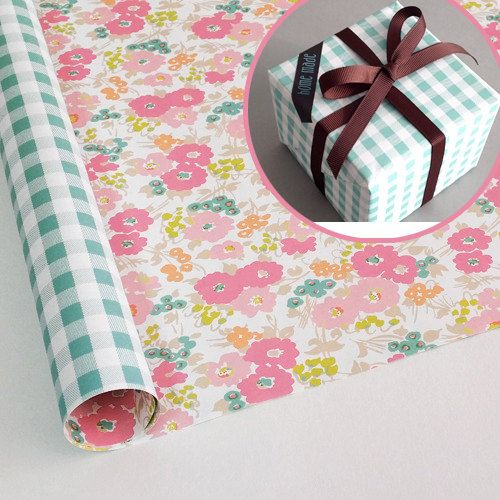 10 sheets Gift wrapping paper Double sided  by PaperNRibbon