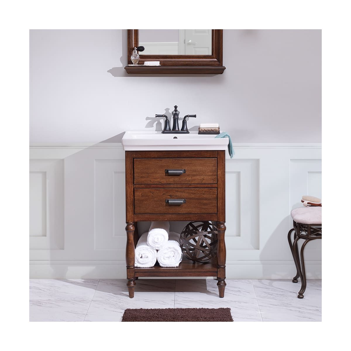 24 dark gray oak free standing modern bathroom cabinet with integrated sink. Foremost Chnvt2435 Cherie 23 5 8 Free Standing Build Com In 2021 Small Bathroom Vanities Bathroom Vanity Bathroom Vanity Store