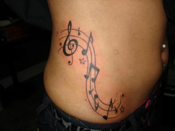 Music Note Tattoos On Hip Like