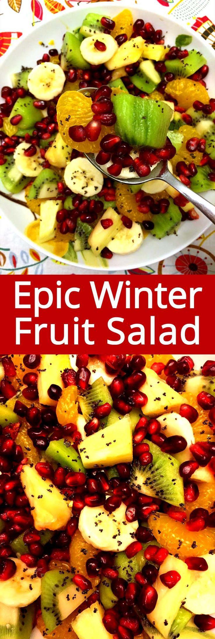 Dieser Festliche Granatapfel Winterobstsalat Ist Der Beste Weihnachtssalat Aller Zeiten Perf Salads Salat Winter Fruit Salad Fruit Salad Recipes Best Fruit Salad