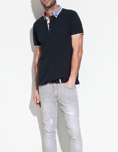 POLO DOBLE CUELLO - Camisetas - Hombre - ZARA