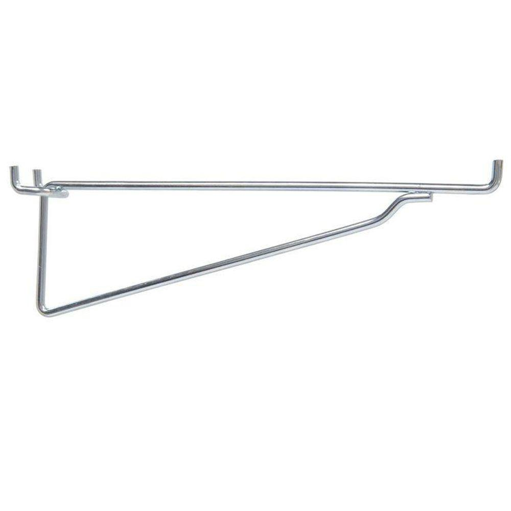 Hillman Pegboard Shelf Bracket 20 Pack 853070 The Home Depot In 2020 Pegboard Shelf Bracket Shelf Brackets Peg Board