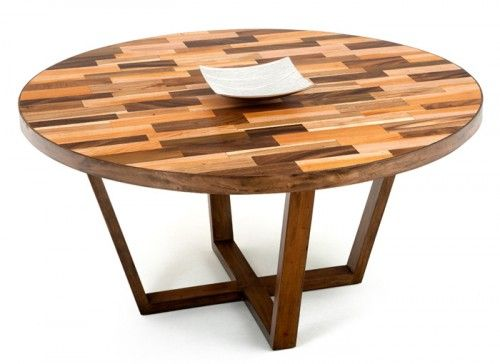Round Modern Rustic Dining Table Breslow Greatroom