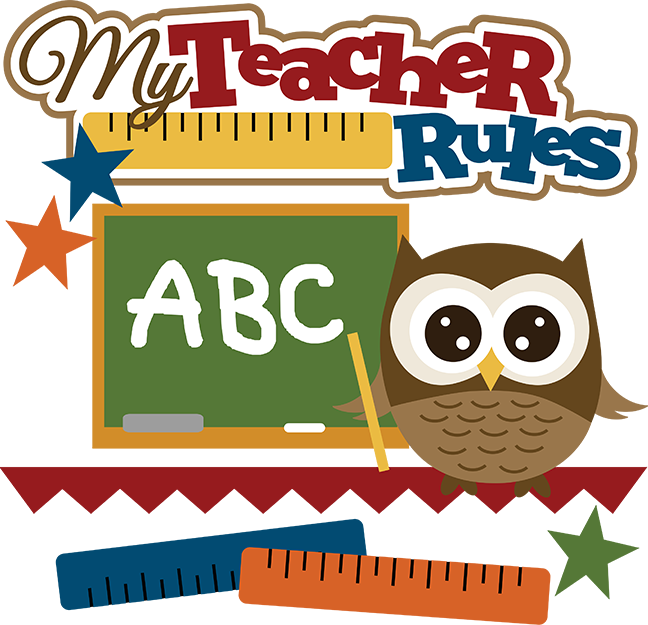 my teacher rules svg school svg file owl svg files svg files for rh pinterest ca cute clipart for teachers black and white