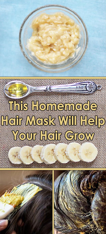 This Homemade Hair Mask Will Help Your Hair Grow #oilyhair