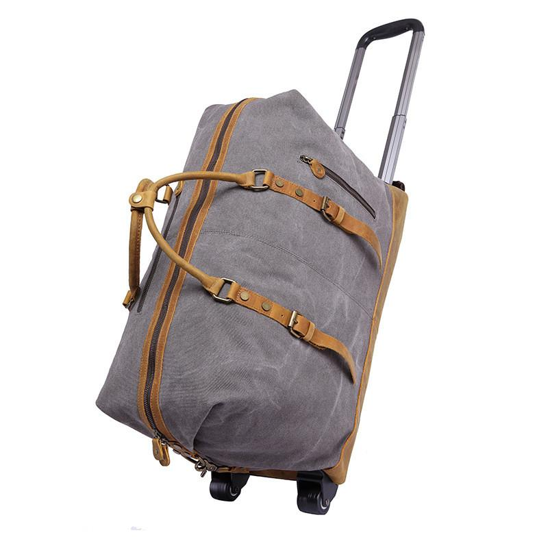 Portable Luggage Duffel Bag Stone Pattern Travel Bags Carry-on In Trolley Handle