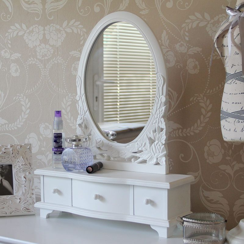 Superb Blanche Range   Dressing Table Mirror With Drawers