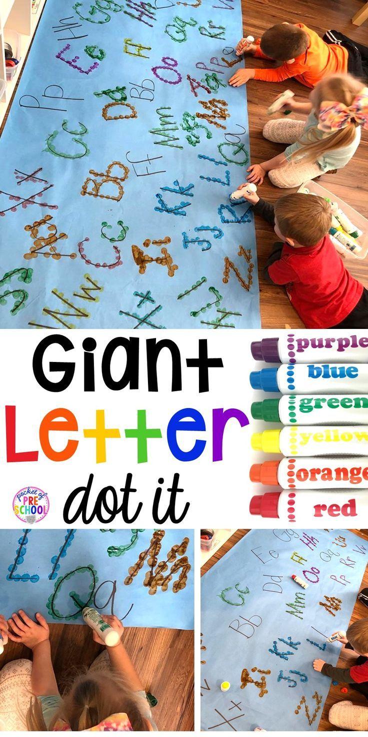 Giant Letter Dot It Pocket of Preschool | Preschool