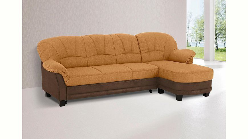 Home affaire Polsterecke »Camelita«, wahlweise mit Bettfunktion - wohnzimmer orange beige