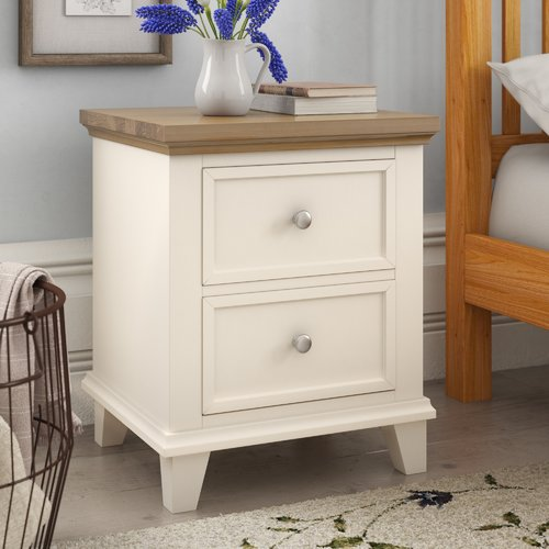 August Grove Andora 2 Drawer Bedside Table Wardrobe Furniture