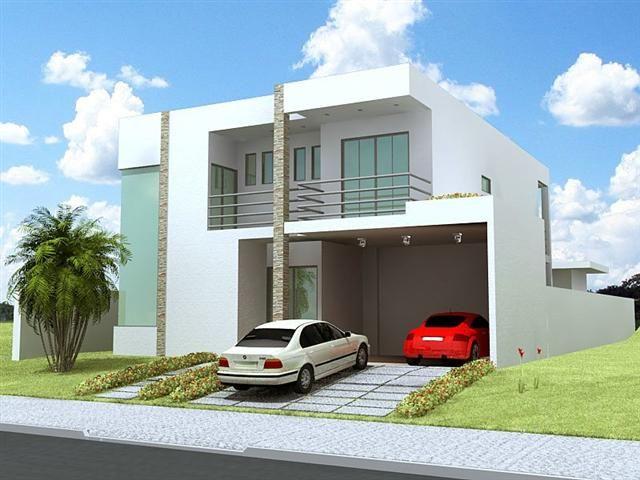 Fachadas de sobrados modernos com sacadas exterior and house for Fachadas de apartamentos modernos