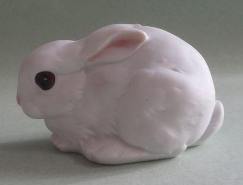 Kaiser Gawantka Lying White Rabbit Dark Eye Bunny Hare Bisque Porcelain Figurine   eBay