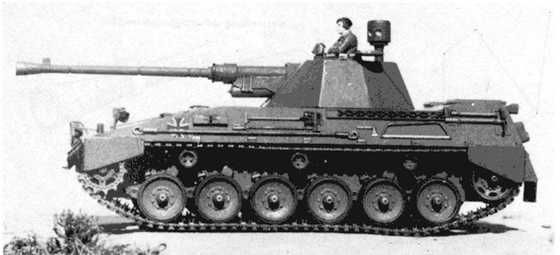 West German Begleitpanzer 57 left side view.