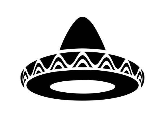 40+ Sombrero Black And White Clipart