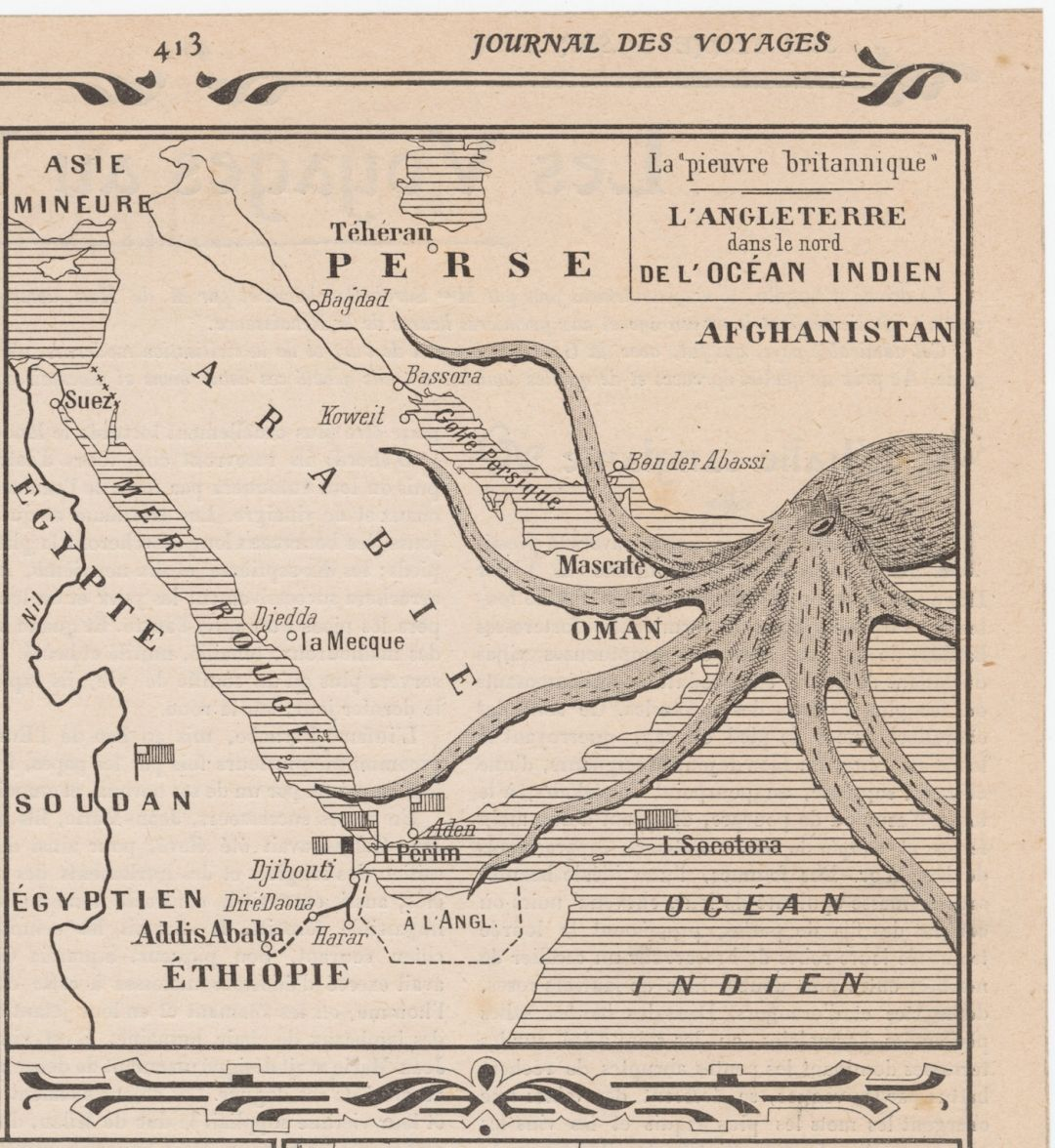 The Octopus, a Motif of Evil in Historical Propaganda Maps